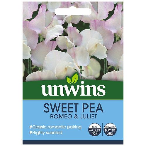 Unwins Sweet Pea Romeo & Juliet - Approx 21 Seeds