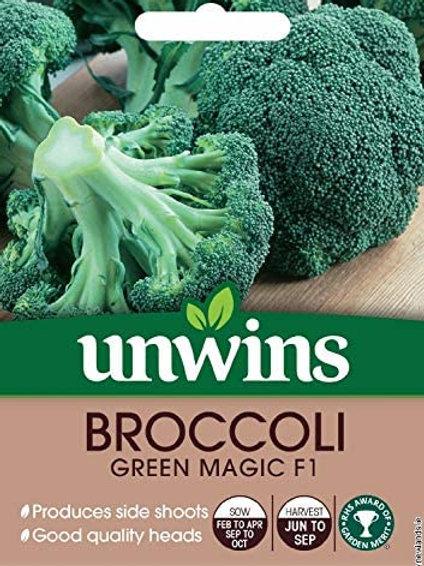 Unwins Broccoli Green Magic F1 - Approx 40 Seeds