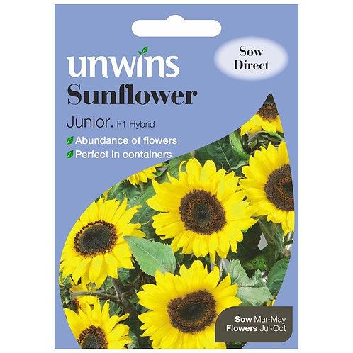 Unwins Sunflower Junior F1 - Approx 12 Seeds