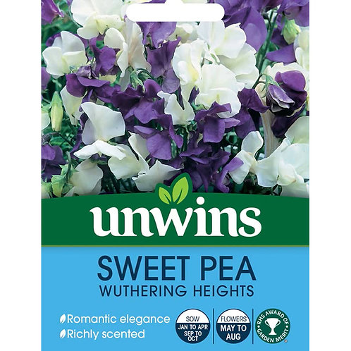 Unwins Sweet Pea Wuthering Heights - Approx 21 Seeds