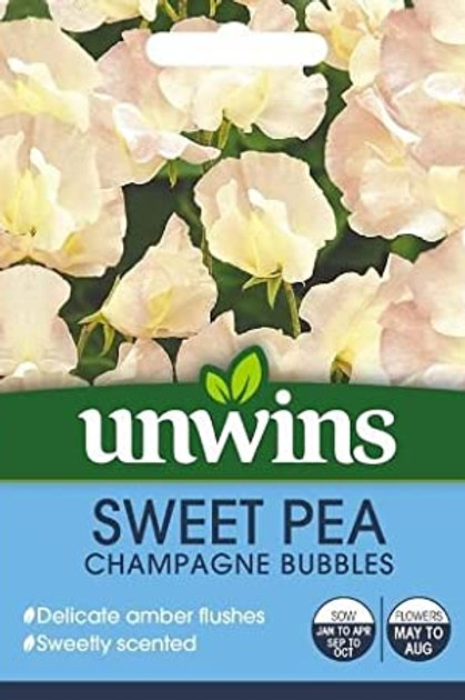 Unwins Sweet Pea Champagne Bubbles - Approx 21 Seeds