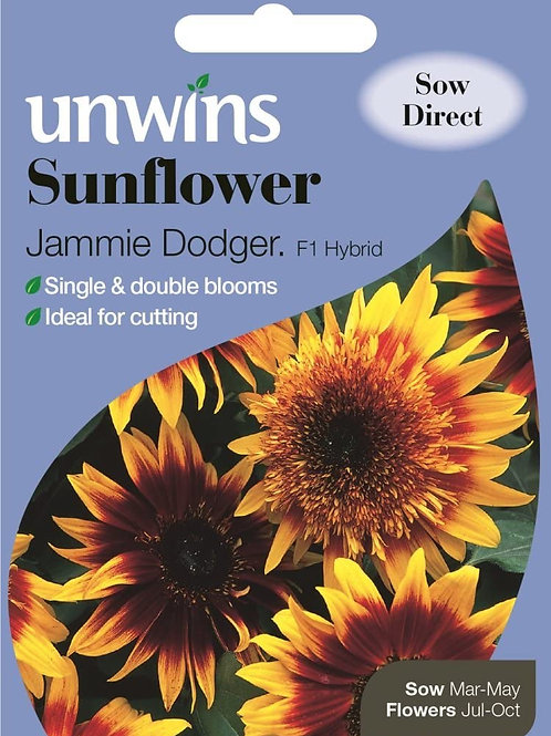 Unwins Sunflower Jammie Dodger F1 - Approx 16 Seeds