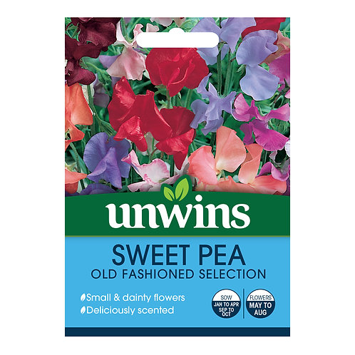 Unwins Sweet Pea Old Fashioned Selection - Approx 30 Seeds