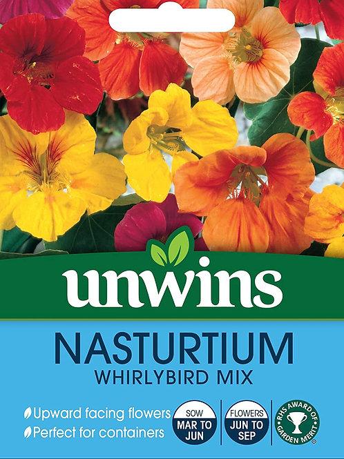 Unwins Nasturtium Whirlybird Mix - Approx 30 Seeds