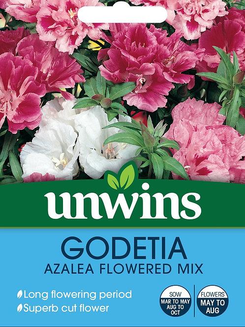 Unwins Godetia Azalea Flowered Mix - Approx 800 Seeds