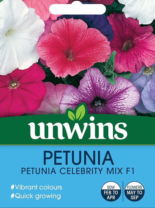 Unwins Petunia Celebrity Mix F1 - Approx 70 Seeds