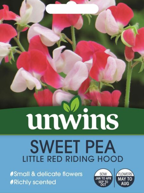 Unwins Sweet pea Little Red Riding Hood - Approx 21 Seeds