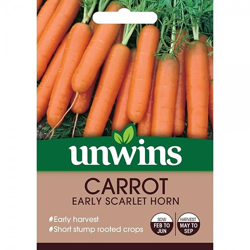 Carrot Early Scarlet Horn (Unwins)