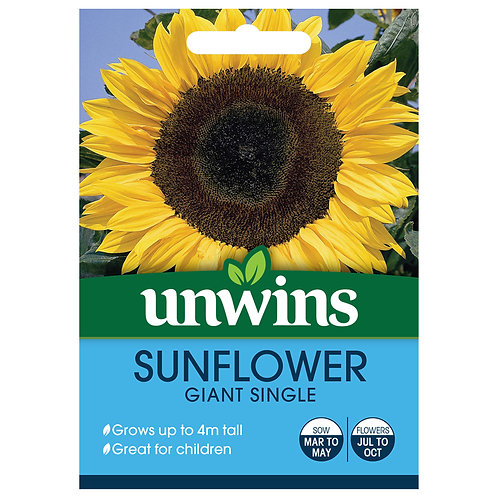 Unwins Sunflower Giant Single - Approx 45 Seeds