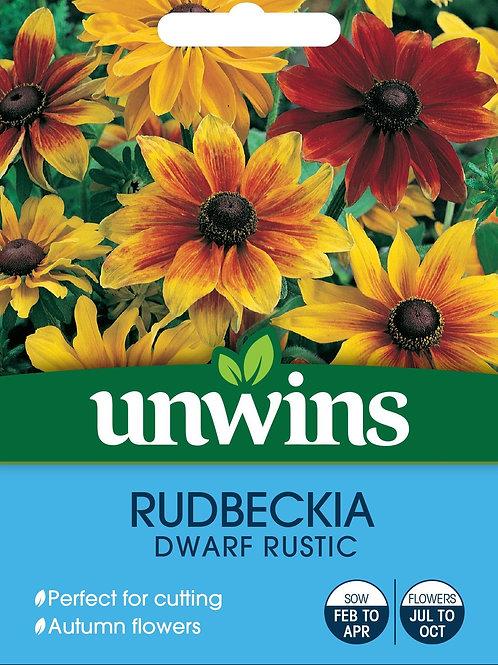 Unwins Rudbeckia Dwarf Rustic - Approx 150 Seeds