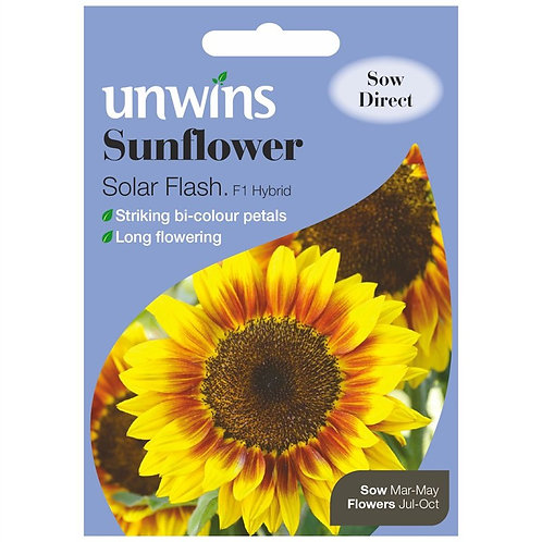 Unwins Sunflower Solar Flash F1 - Approx 12 Seeds