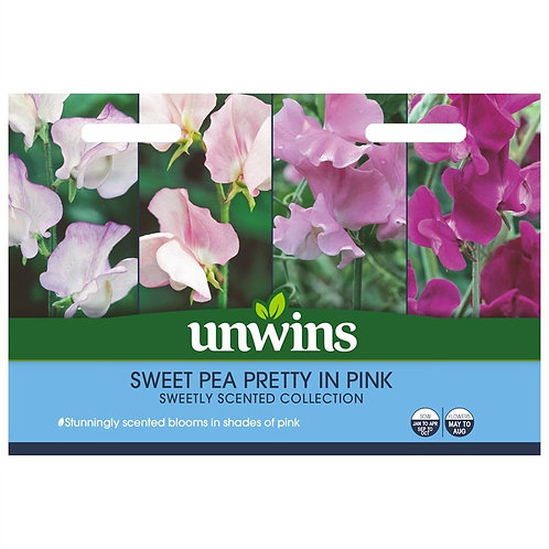 Unwins Sweet Pea Pretty In Pink - 4 Varieties