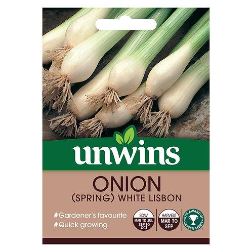 Onion (Spring) White Lisbon (Unwins)