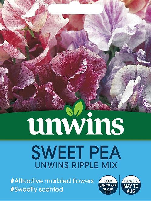 Unwins Sweet Pea Unwins Ripple Mix - Approx 21 Seeds
