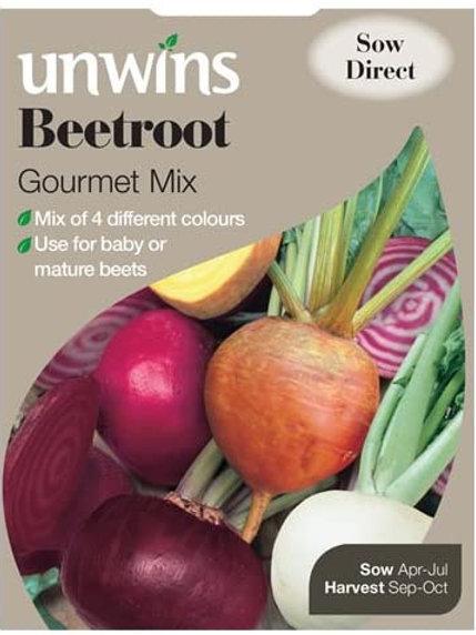 Unwins Beetroot Gourmet Mix - Approx 200 Seeds