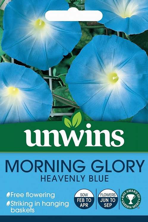 Unwins Morning Glory Heavenly Blue - Approx 35 Seeds