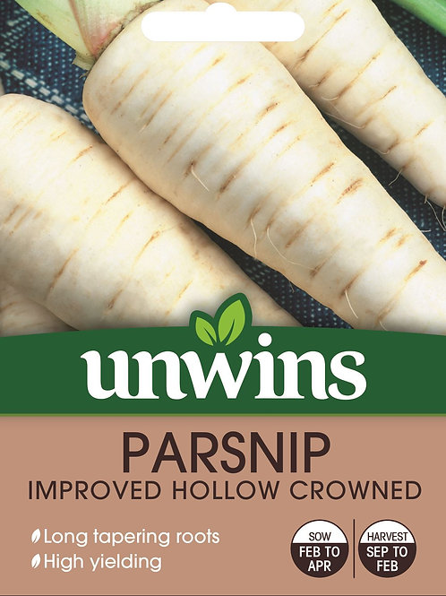 Unwins Parsnip Improved Hollow Crowned - Approx 250 Seeds