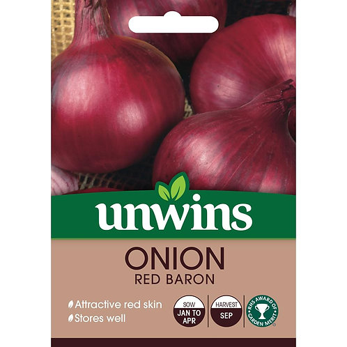 Unwins Onion Red Baron - Approx 160 Seeds