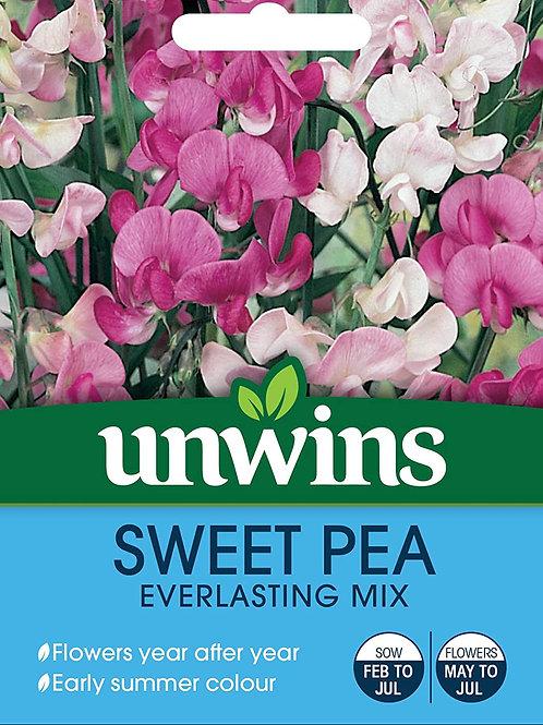 Unwins Sweet Pea Everlasting Mix - Approx 21 Seeds