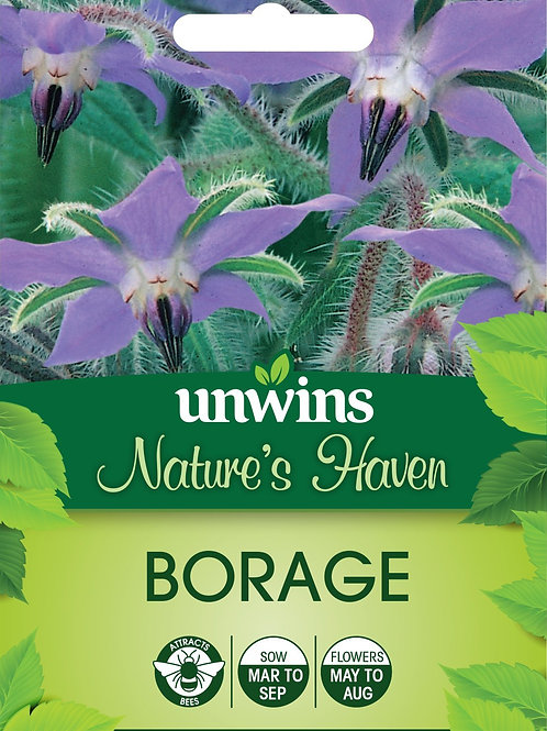 Unwins Nature's Haven Borage - Approx 200 Seeds