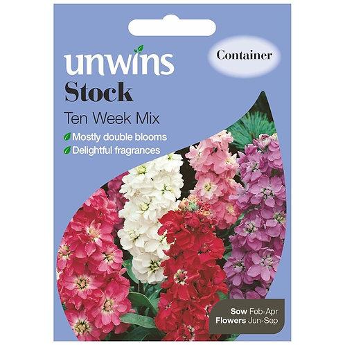 Unwins Stock Ten Week Mix - Approx 220 Seeds