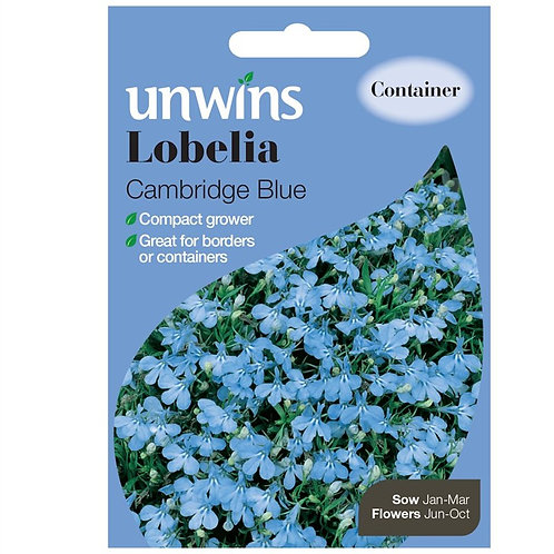 Unwins Lobelia Cambridge Blue - Approx 1000 Seeds