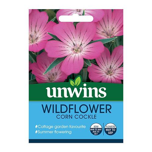 Unwins Wildflower Corn Cockle - Approx 80 Seeds