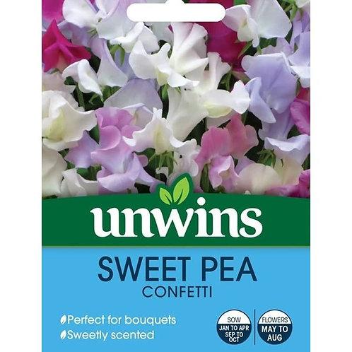 Unwins Sweet Pea Confetti - Approx 21 Seeds