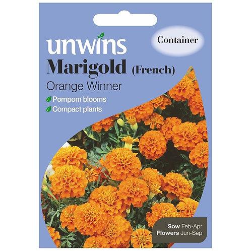 Unwins Marigold (French) Orange Winner - Approx 105 Seeds