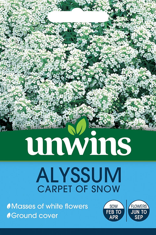 Unwins Alyssum Carpet Of Snow - Approx 800 Seeds