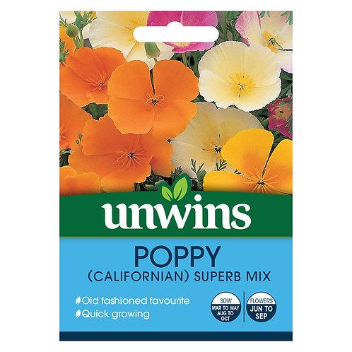 Unwins Poppy (Californian) Superb Mix