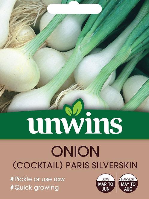 Unwins Onion (Cocktail) Paris Silverskin - Approx 500 Seeds