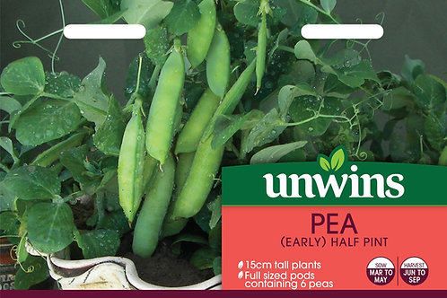Unwins Pea (Early) Half Pint - Approx  100 Seeds