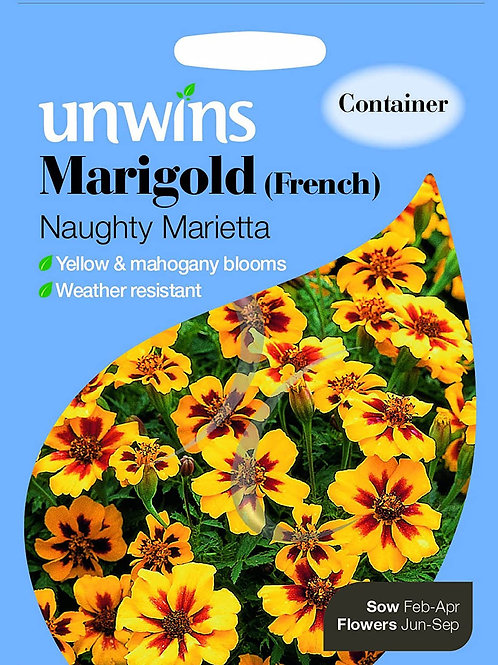 Unwins Marigold (French) Naughty Marietta - Approx 130 Seeds