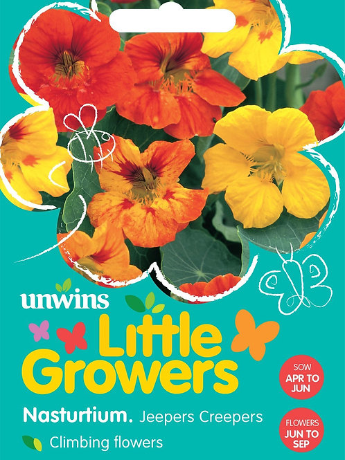 Unwins Little Growers Nasturtium Jeepers Creepers - Approx 40 Seeds