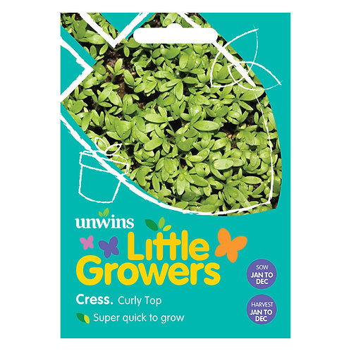 Unwins Little Growers Cress Curly Top - Approx 2000 Seeds