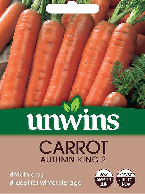 Unwins Carrot Autumn King 2 - Approx 1500 Seeds