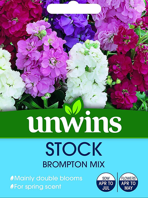 Unwins Stock Brompton Mix - Approx 100 Seeds