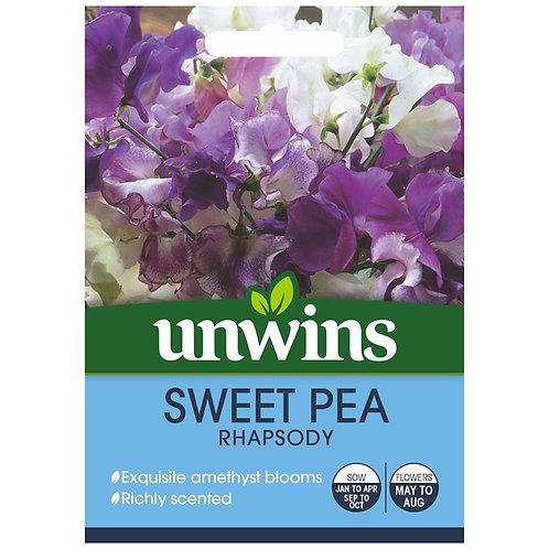Unwins Sweet Pea Rhapsody - Approx 21 Seeds