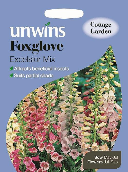 Unwins Foxglove Excelsior Mix - Approx 3000 Seeds