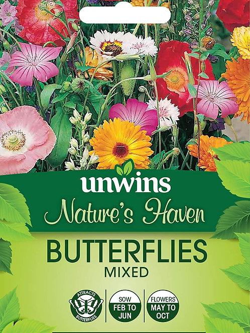 Unwins Nature's Haven Butterflies Mixed - Approx 500 Seeds