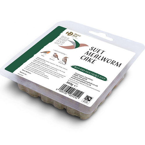 Henry Bell Suet Mealworm Cake 300g