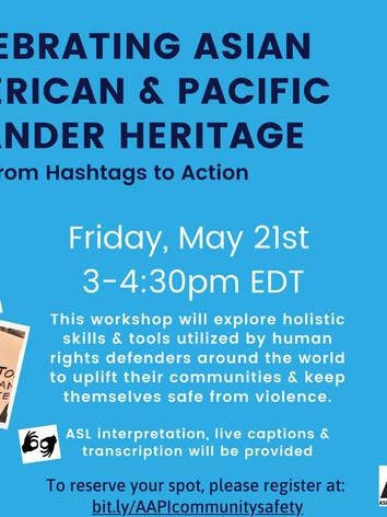 Celebrating Asian American & Pacific Islander Heritage