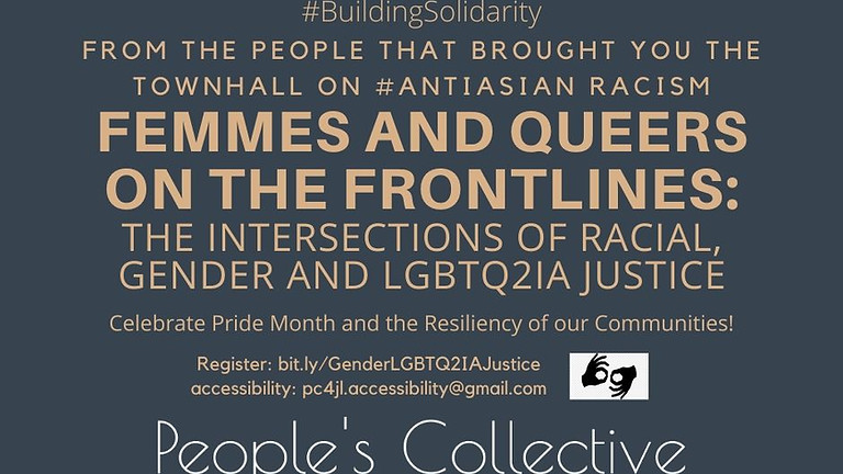 Town hall on Femmes and Queers on the Frontlines
