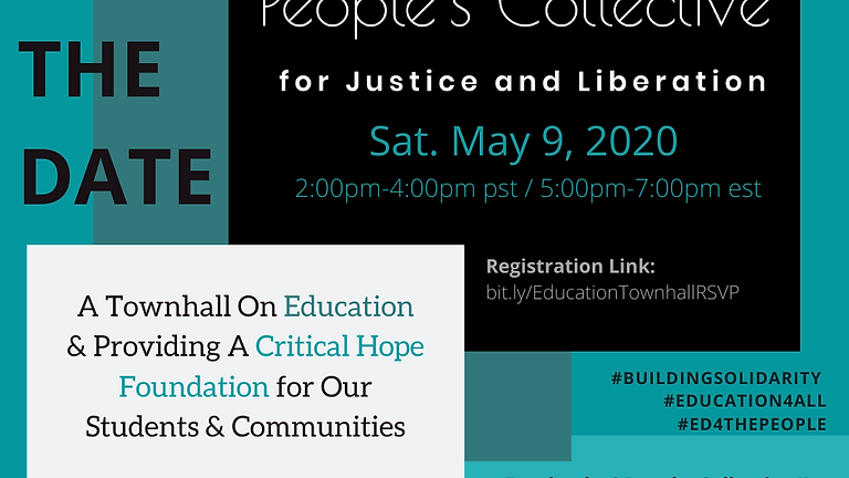 A Townhall on Education & Providing A Critical Hope Foundation for Students & Families