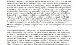 Asian Americans Support Councilperson Monica Montgomery for San Diego City Council President