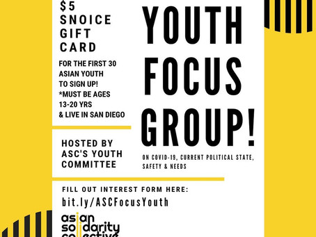 Youth Focus Groups!