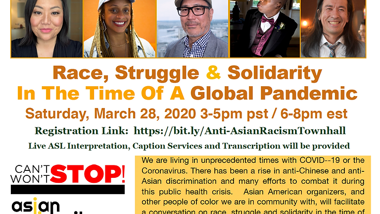 Townhall on Anti-Asian Racism