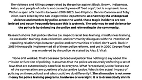 No Funding On Policing In San Diego