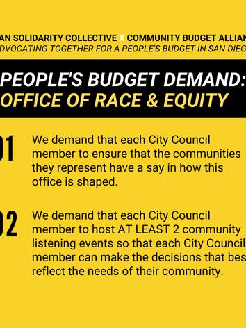 ASC's x Community Budget Aliiance